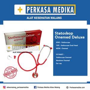Stetoskop Deluxe Onemed Hitam Perkasa Medika Malang