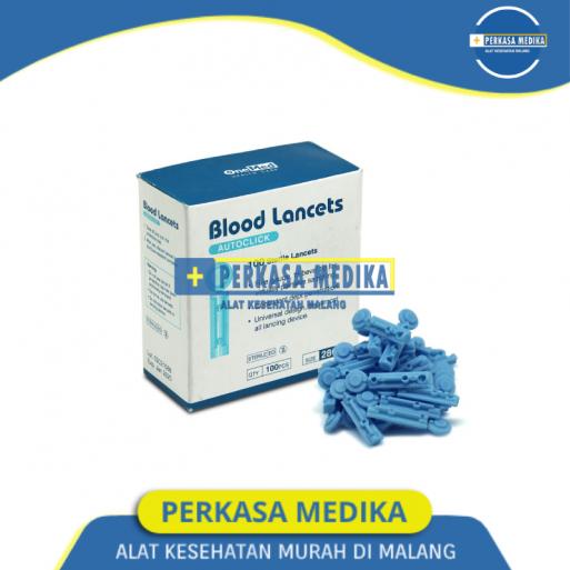 Jarum Cek Darah Blood Lancet 28G Onemed Malang