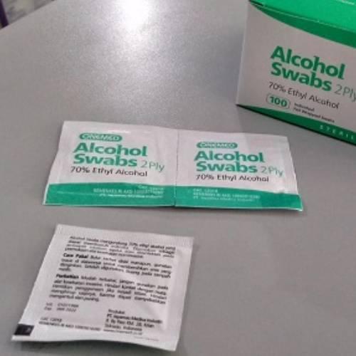Alkohol Swab 2ply Onemed Tisu Steril di Perkasa Medika Malang