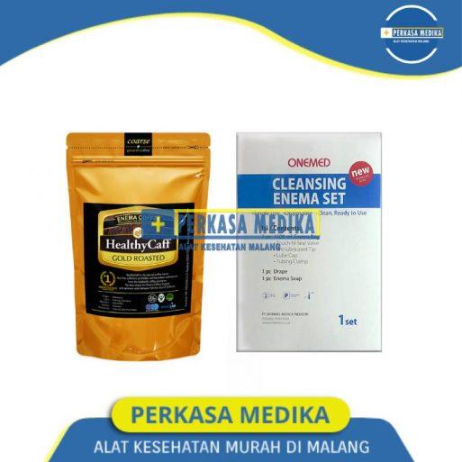 Paket Enema Kopi Healtycaff Gold 200gr dan Alat Enema