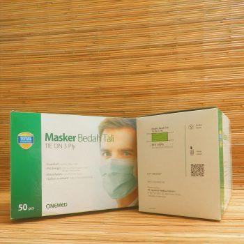 Masker Medis Tie On ( Tali ) 3 PLY Onemed Perkasa Medika (2)