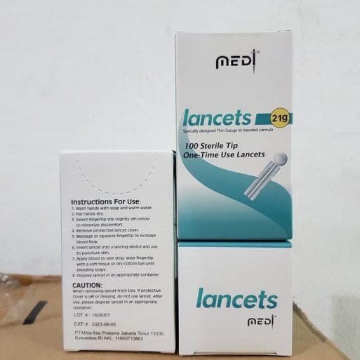Jarum Bekam 21g Jarum cek darah Medilance Lancet 2
