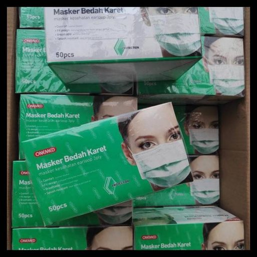 Masker Medis Earloop 3PLY Onemed Perkasa Medika (3)