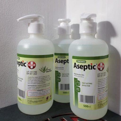 Aseptic Plus Cair 500 ml + Pump ONEMED Perkasa Medika (3)