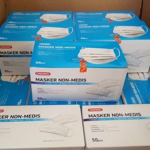 Masker Non Medis 3 ply Onemed di Perkasa Medika malang (2)
